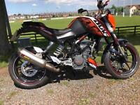 Ktm duke 200 mint bike with extras £2499 -2012