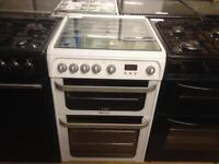 Hotpoint 60cm Gas cooker (glass lid)