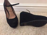 New dune sued wedges size 6/39