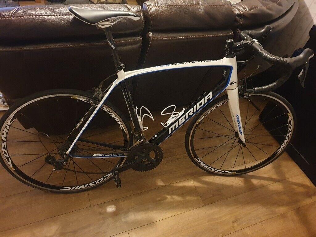 Merida full carbon road (racing) bike lots of new parts and money spent |  in Beaminster, Dorset | Gumtree
