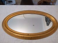 IKEA OVAL MIRROR - LEVANGER (GOLD)