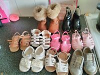 Girls size 4 shoes from next mothercare river island and debenhams