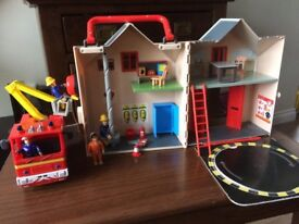 Fireman Sam Pontypandy Set with Jupiter fire engine