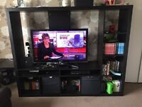 Dark wood tv stand and matching book shelf from Ikea. Must be gone asap as moving house.