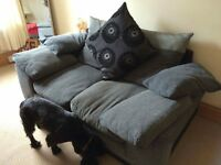 Matching Sofa and 360 degree swivel cuddle chair!!