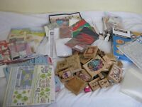 Mega collection of craft supplies -papercraft, rubber stamps, kids craft kits , papers and storage