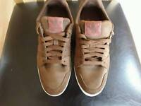 ADIDAS TRAINERS BROWN SUEDE SIZE (6 1/2 )