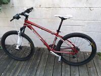 """Kona Cindercone 16"""" Mountain bike. Front suspension. Hydraulic disc breaks. 26"""" wheels"""