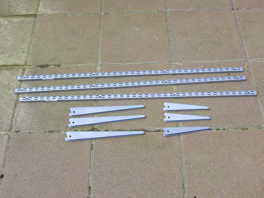 Matt grey adjustable shelving system - never used