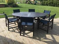 Garden / outdoor table and six chairs