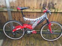 Barracuda Mens Full suspension mountain bike 24 speed disc brakes
