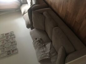 2 x 2 seater sofas one is sofa bed