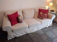 IKEA EKTORP - 3 seat beige sofa