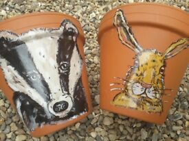 Hand painted hare items starting at £12