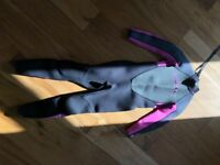 Girls 3/2mm O'Neil Reactor Wetsuit - Age 8
