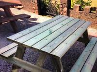 Picnic bench - solid wood - beer garden/pub