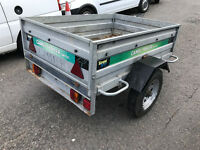 Metal Camel Trailer SWTT85 5ft x 3.6ft - Good condition and tows well - Fold down back