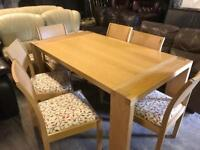 Solid wood dinning tabke 6 Chairs