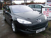 57 LATE 2007 PEUGEOT 407 COUPE DIESEL NEW CLUTCH NEW BRAKES STUNNING CAR ONLY £2495