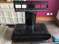Oval black tv stand