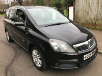 Vauxhall Zafira Design 1796cc Petrol 5 speed manual 7 seat Estate 08 Plate 29/04/2008 Black