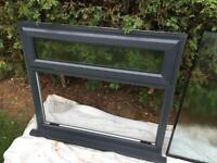 Grey Bathroom Window Unit