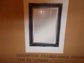 fancy ornate black wall miror 20 x 30 inches