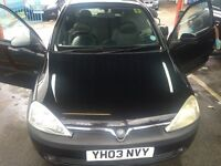 CHEAP CAR FOR SALE - VAUXHALL CORSA 1.2 LITRE BLACK 3 DOOR, CLEAN, GOOD CONDITION, DRIVES WELL.