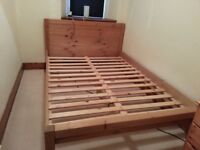 double pine bed for sale