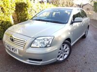 2006 TOYOTA AVENSIS DIESEL FOR SALE,MOT,LOW MILES,2 OWNERS,EXCELLENT CONDITION