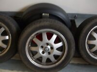 jag x type 4 x 16 inch alloys with tyres