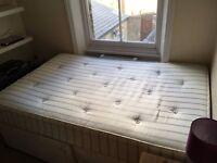 Small Double Divan bed & mattress (John Lewis-good as new!)