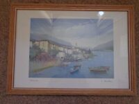Italian View Picture/Painting Framed in wooden frame