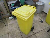 Yellow 80 litre bin