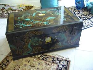 BLACK LACQUER BOX FOR DECORATION OR STORAGE-LIKE  NEW $150.00