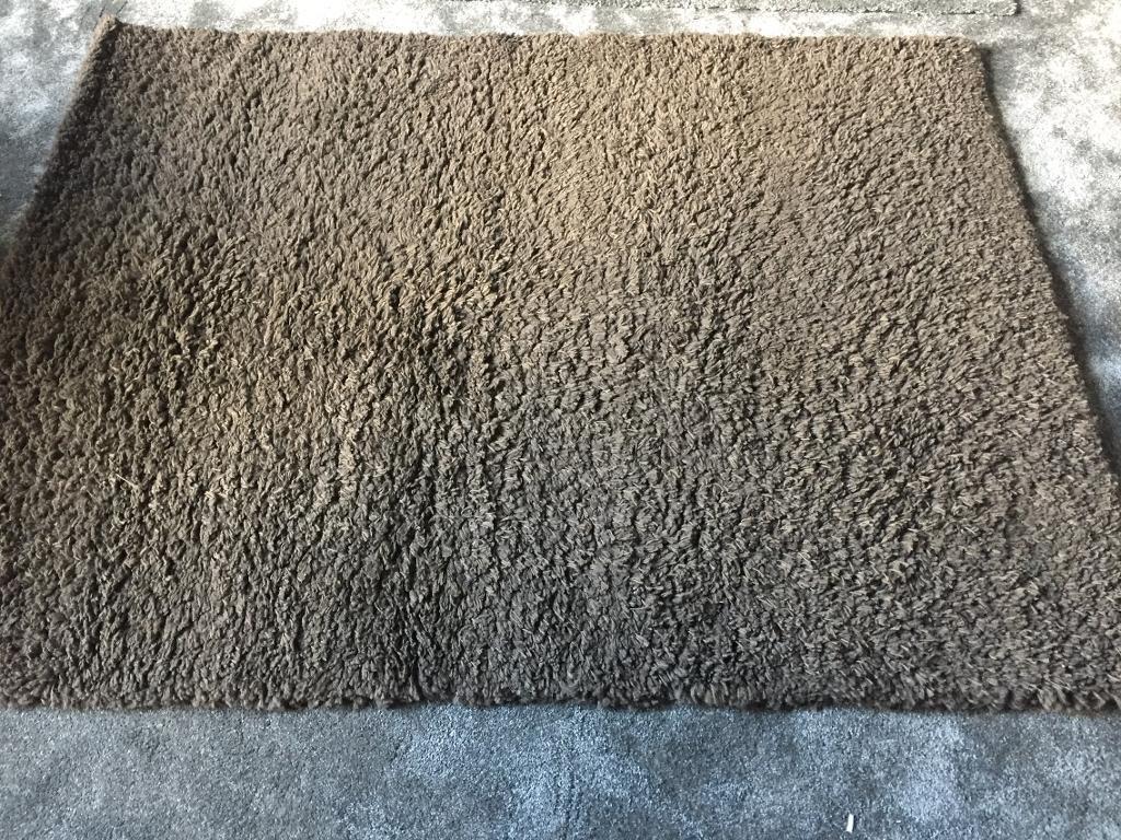 Chocolate brown shaggy rug