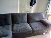 Large charcoal corner suite 2seat corner 2seat. One year old , pet and smoke free home