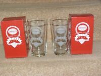 12 NO CAFFREYS IRISH ALE LIMITED EDITION PINT GLASSES ETCHED 1999 **UNUSED**