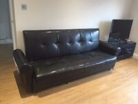 BLACK SOFA BED FOLDING BED FREE TO GO B