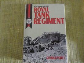 Royal Tank Regiment history hardback book + Tank Museum 1960's guide