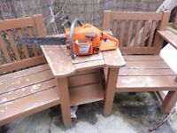 """HUSQVARNA 254 CHAINSAW WITH 15"""" BAR AND NEW CHAIN"""