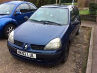 Renault Clio Expression 16v 2003 - Spares or Repairs