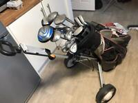 Golf clubs + trolley + ping driver