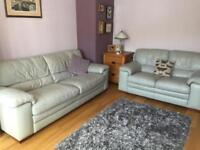 Grey leather 3 and 2 seater sofas from furniture village bought for over £2k