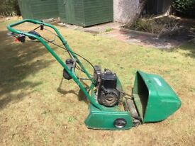 Qualcast Classic Petrol 35s self propelled cylinder mower. In working order