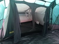Khyam 8 berth tent with large living area