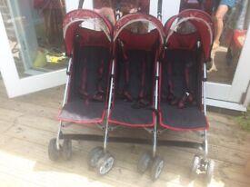 Kidz Kargo triple buggy stroller