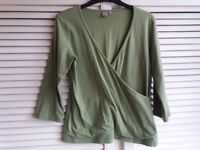 Light Green Fold Over Top Size L Ladies' Women's Clothes