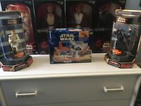 Star Wars Episode 1 Phantom Menace Bundle - Figures, clock, micro machines, vhs