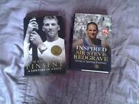 2 Books on 2 great rowers, MATTHEW PINSENT, and SIR STEVE REDGRAVE.